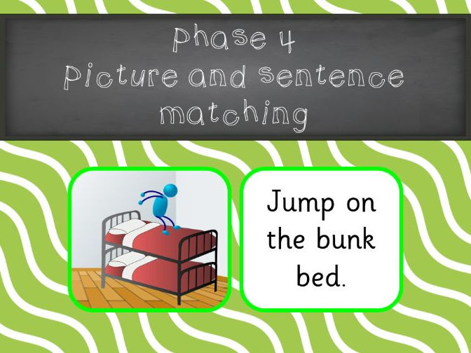 Phonics Phase 4 Picture and Sentence Matching