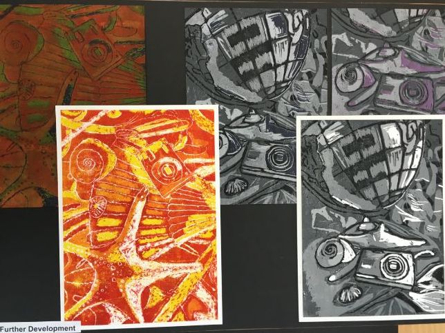 Printmaking on a budget/in the classroom