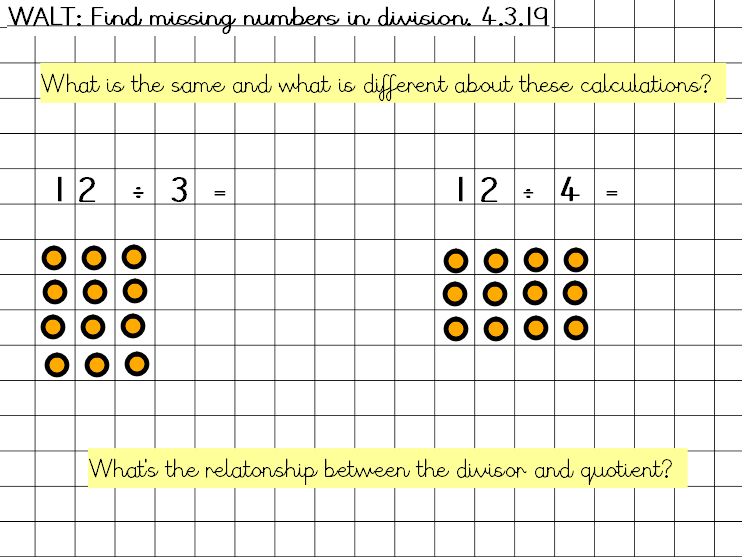 Find missing numbers in division
