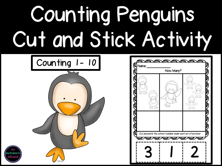 Maths Counting and Ordering Numbers to 10 Cut and Stick Activities