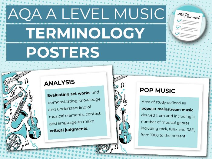 AQA A Level Music Terminology Posters