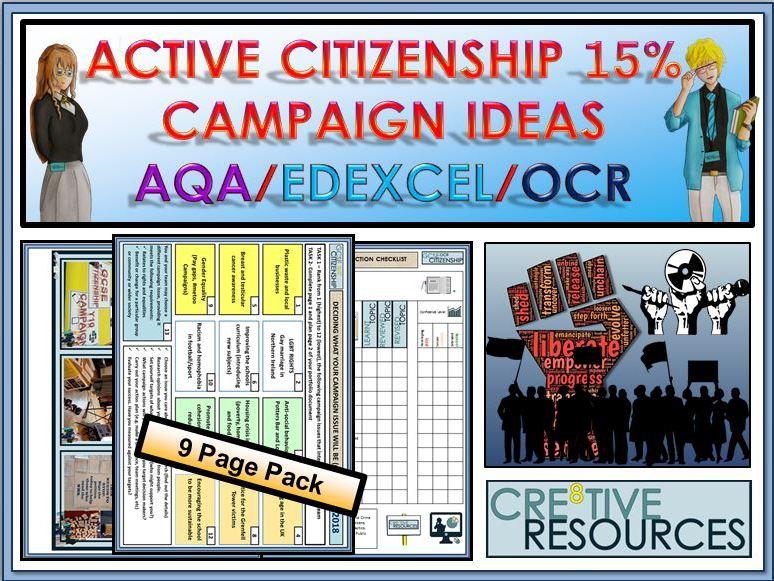 GCSE Citizenship 9-1 Active Citizenship Campaign Ideas