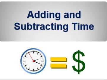 Adding and Subtracting Time - Powerpoint that shows how to do this