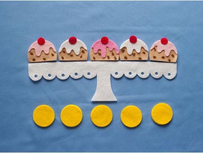 Five Currant Buns in a Baker's Shop Felt Board Pattern PDF