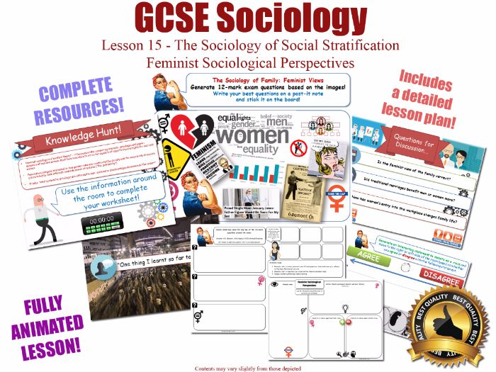 Feminist Perspectives - SOCIAL STRATIFICATION - L15/20 [ WJEC EDUQAS GCSE Sociology] Feminism Gender