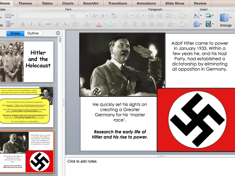 Hitler & the Holocaust (PowerPoint to accompany pupil workbook)