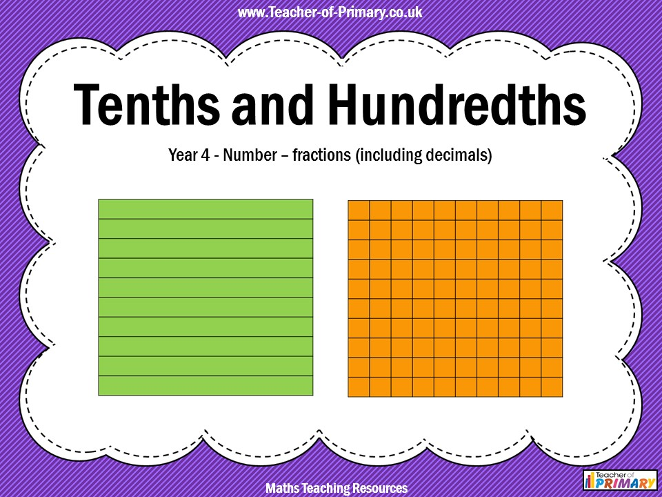 Tenths And Hundredths Year 4