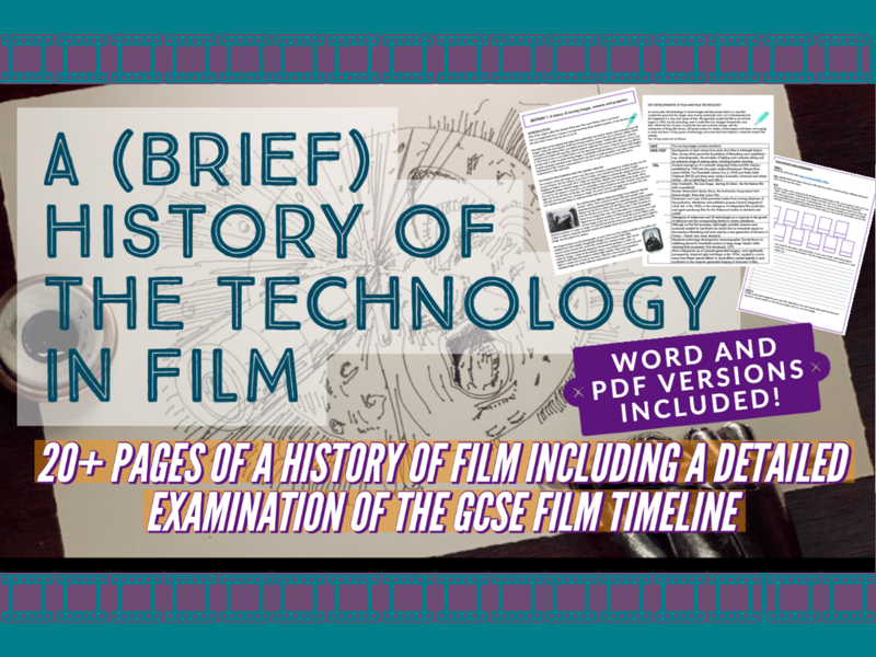 GCSE Film Timeline of Technology and History