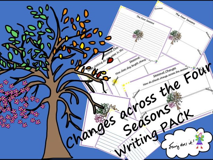 Changes across the Four Seasons Writing PACK