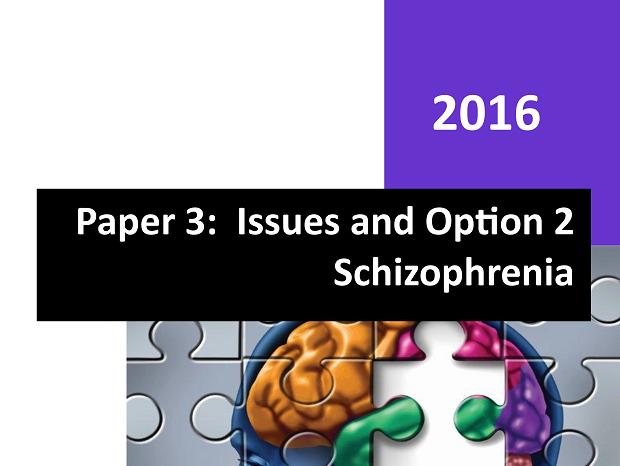 Paper 3 - Complete Student Workbook  - Schizophrenia