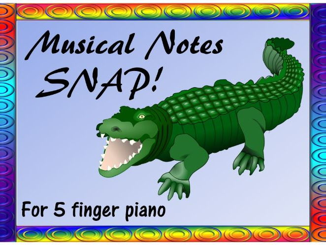 Musical Notes Snap for 5 finger piano