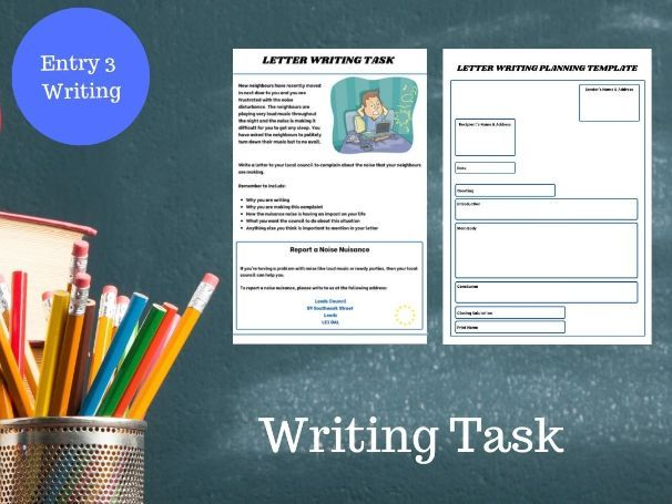 Functional Skills English  Letter Writing Task & Writing  Formatting Planning Template E3/L1