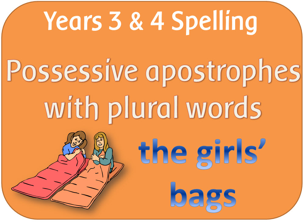 SPaG Year 3 & 4 Spelling: Possessive apostrophe with plural words by ...