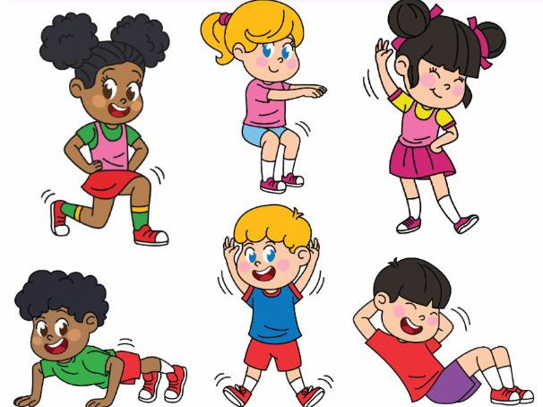 Kids Exercising Exercises Workout by alinavdesign ...