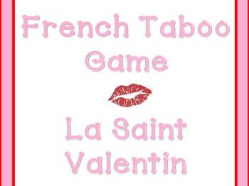 La Saint Valentin - French Taboo Game