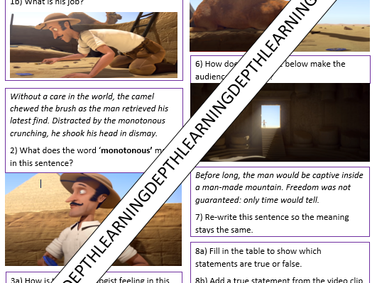 KS1 & KS2 Video Comprehension Ancient Egyptians Pyramids
