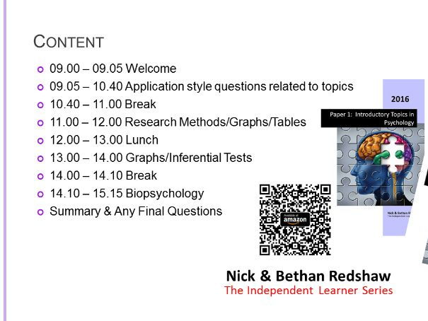 PowerPoint -  Revision Day - Application, Research Methods and  Biopsychology