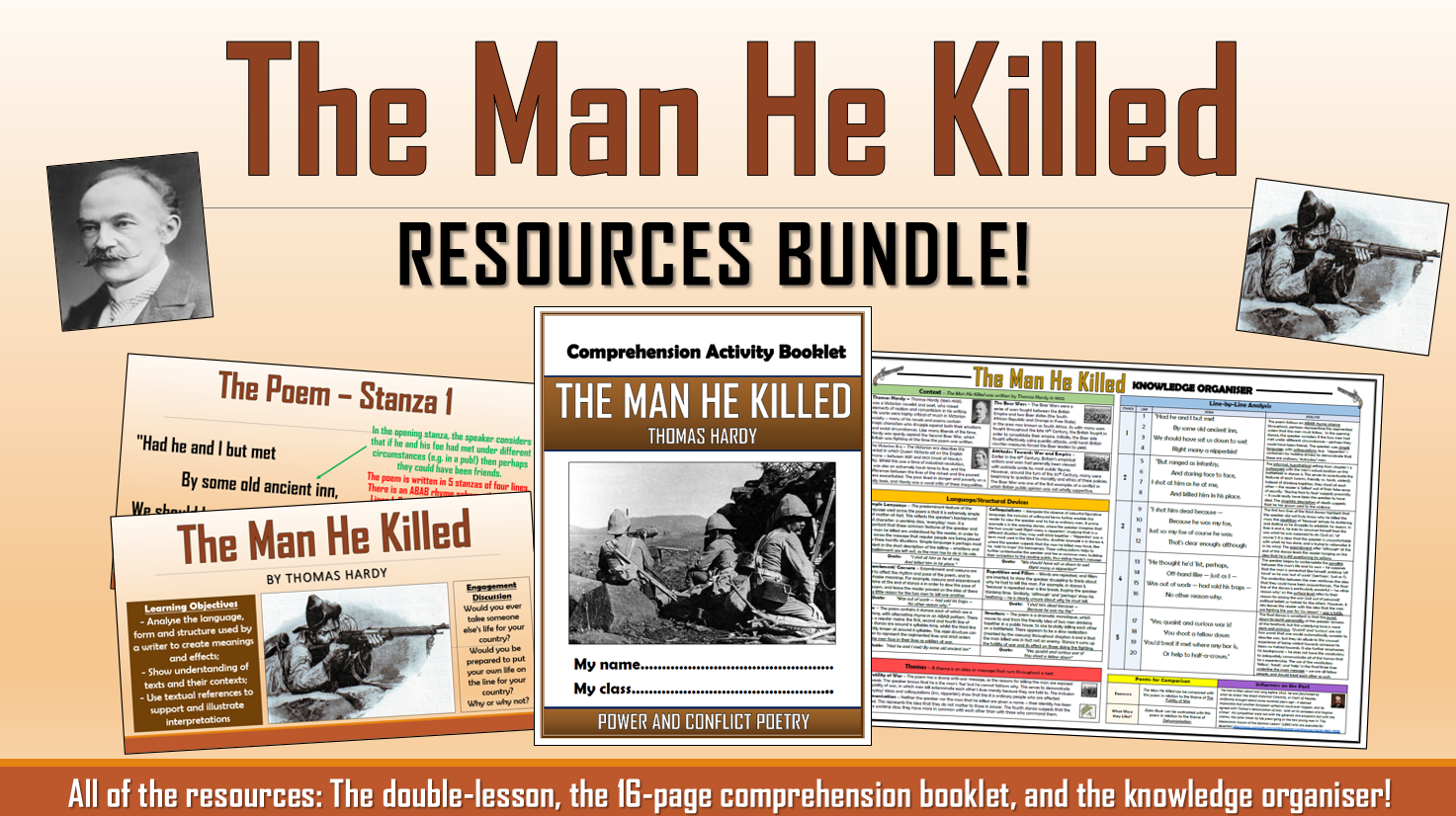 The Man He Killed Resources Bundle!