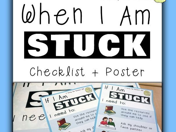 Classroom Management: Self Help Poster and Bookmark