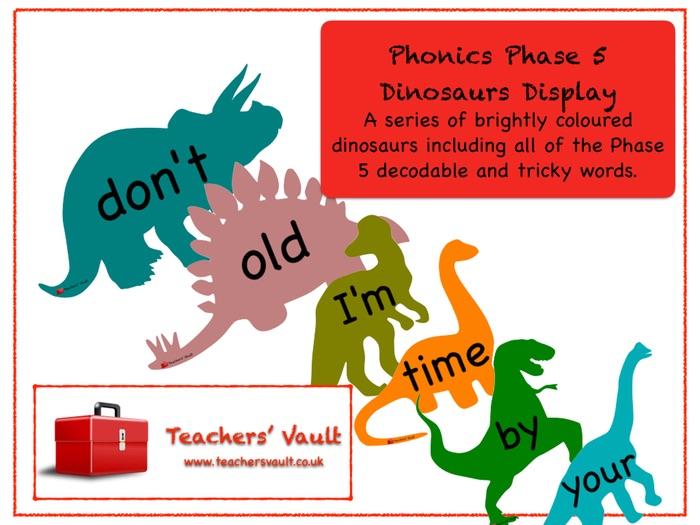 Phonics Phase 5 Dinosaurs Display