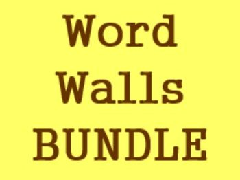 Word Walls in Spanish Bundle