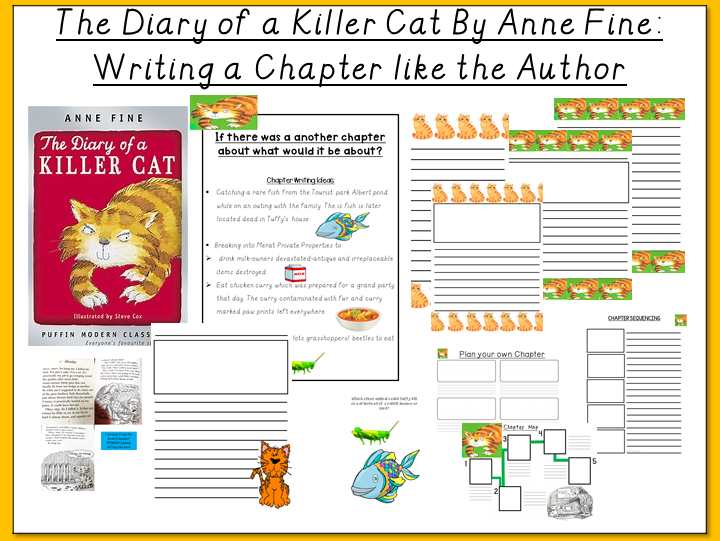 The Diary of a Killer Cat by Anne Fine- Writing a Chapter like the Author