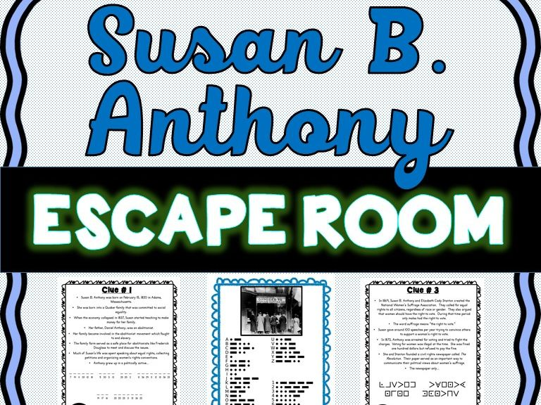 Susan B. Anthony Escape Room - Women's Suffrage Movement