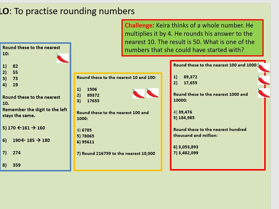 Rounding numbers year 6/5