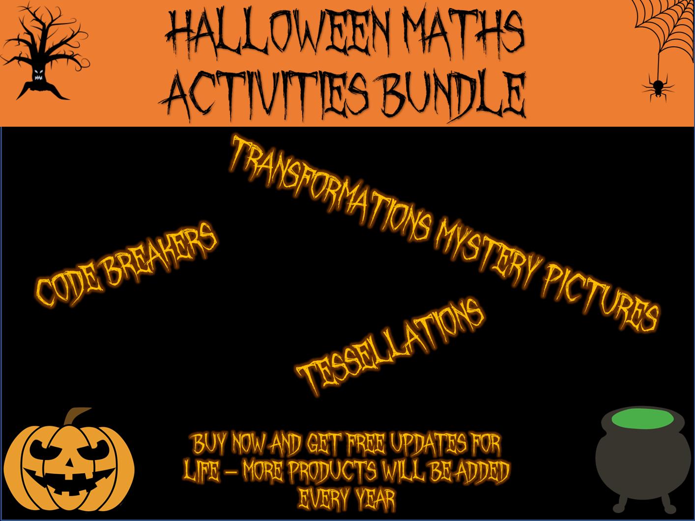 Halloween Maths - activities growing bundle