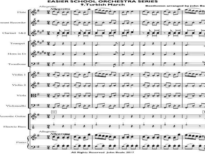 Easier School Orchestra Series 9 Turkish March