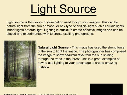Art and Photography Light Source Poster
