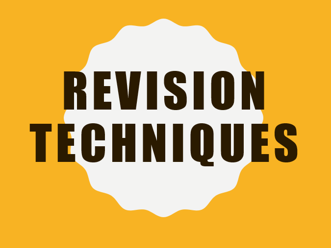 Revision Techniques Staff CPD