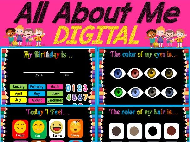 Digital All About Me Activities For Distance Learning, Virtual - Google Slides