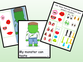 Five Senses Sensory Monster (Halloween)