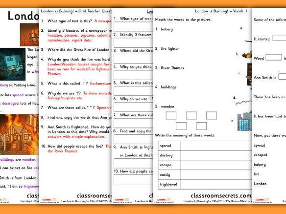 Year 1 Great Fire of London Carousel Guided Reading