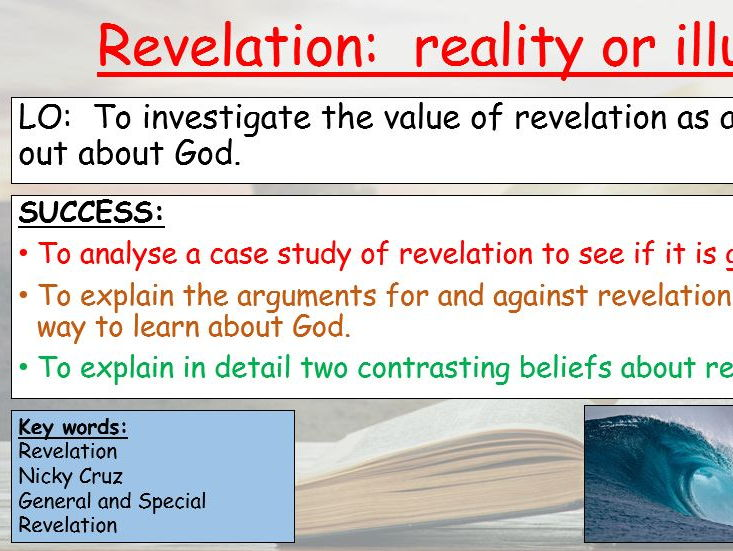 THE VALUE OF REVELATION  AQA RE GCSE GRADE 1-9