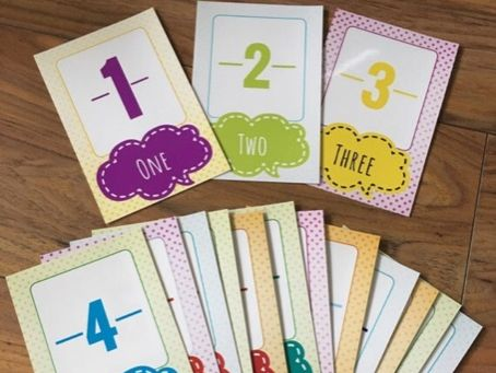 Number Flash Cards 1-25