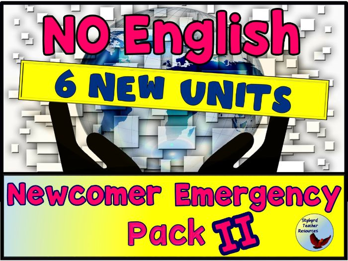 No English Newcomer Emergency Pack 2