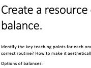 Gymnastics task card creation - Home learning task