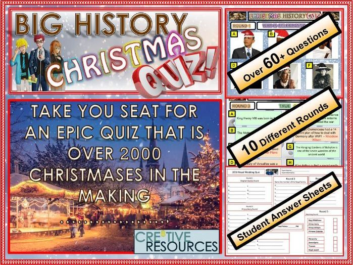 History Christmas Quiz - Christmas 2018 by thecre8tiveresources - Teaching Resources - Tes