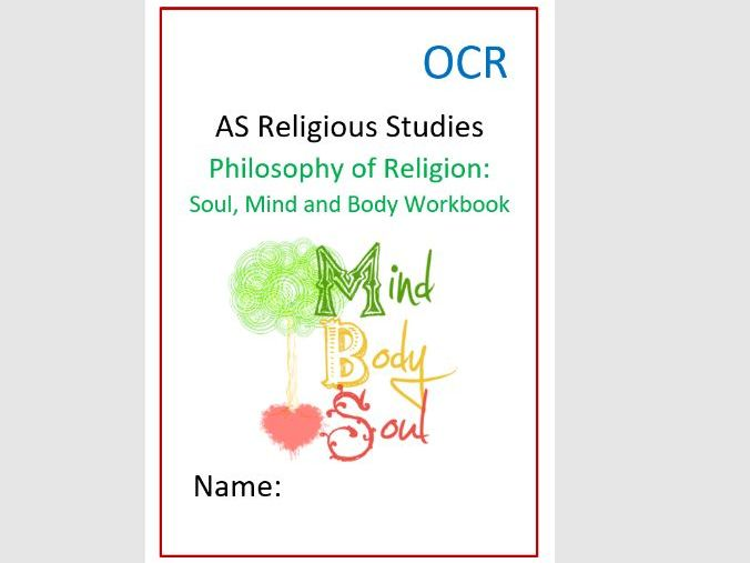 OCR Philosophy of Religion: Soul, Mind and Body Workbook