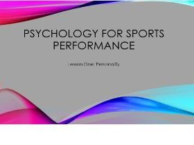 BTEC Sport: Psychology (Full unit with PowerPoint, worksheets & Unit Plan)