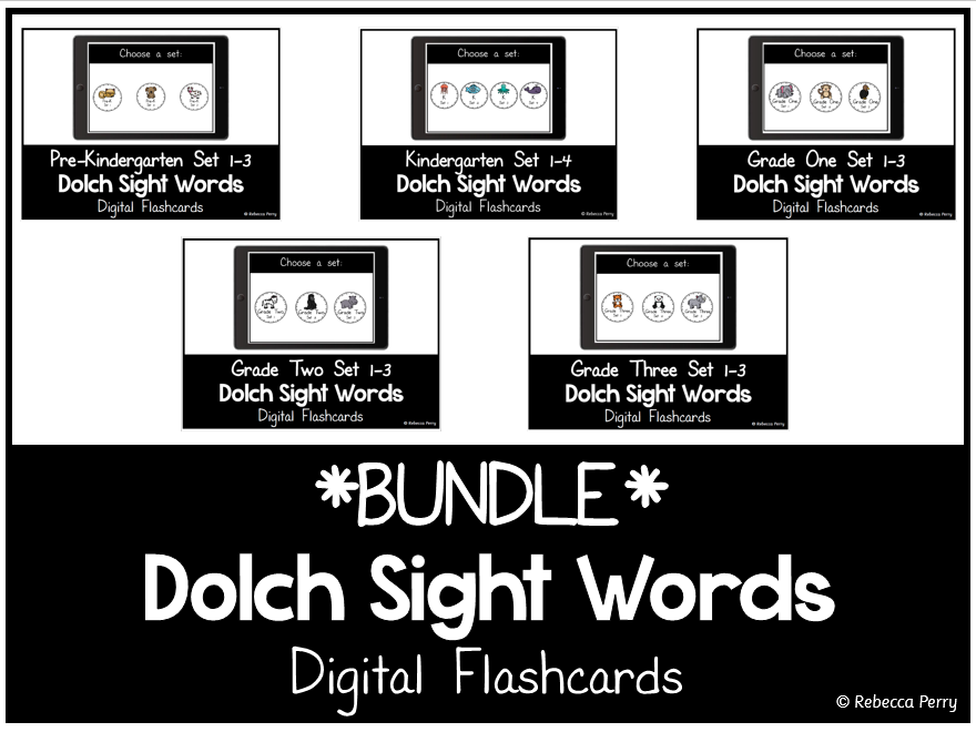 Dolch Sight Words - Digital Flashcards - Bundle
