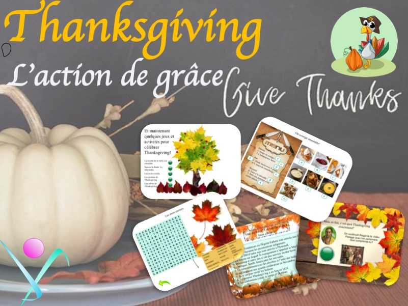 Thanksgiving French Lesson - L'action de Grace