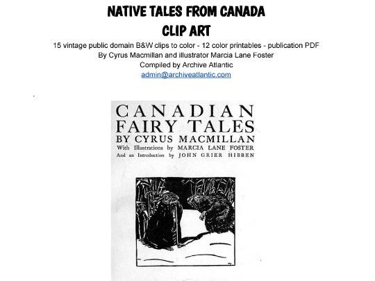 COLOR & LEARN -  Native Tales from Canada - Clip Art & Story