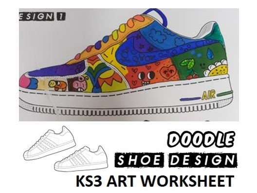 KS3 Art Doodle Shoe Design Worksheet