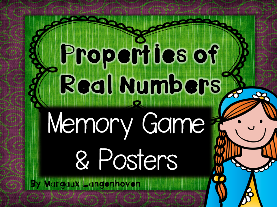 Properties of Numbers Memory Game and Posters
