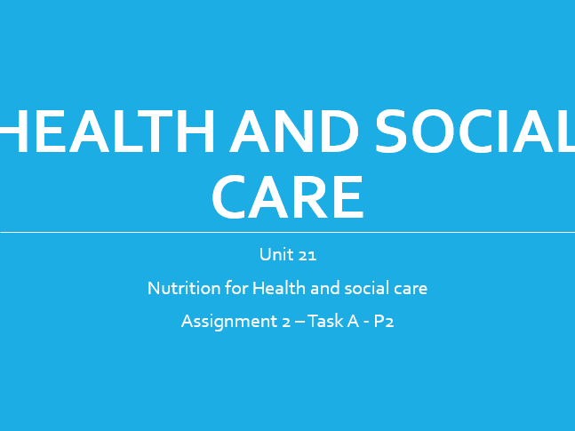health and social care unit 268 Certificate/diploma in health and social care technicals cambridge wwwocrorguk 2 access to health and social care services, education, income, employment status this unit needs to begin with an overview of the human.