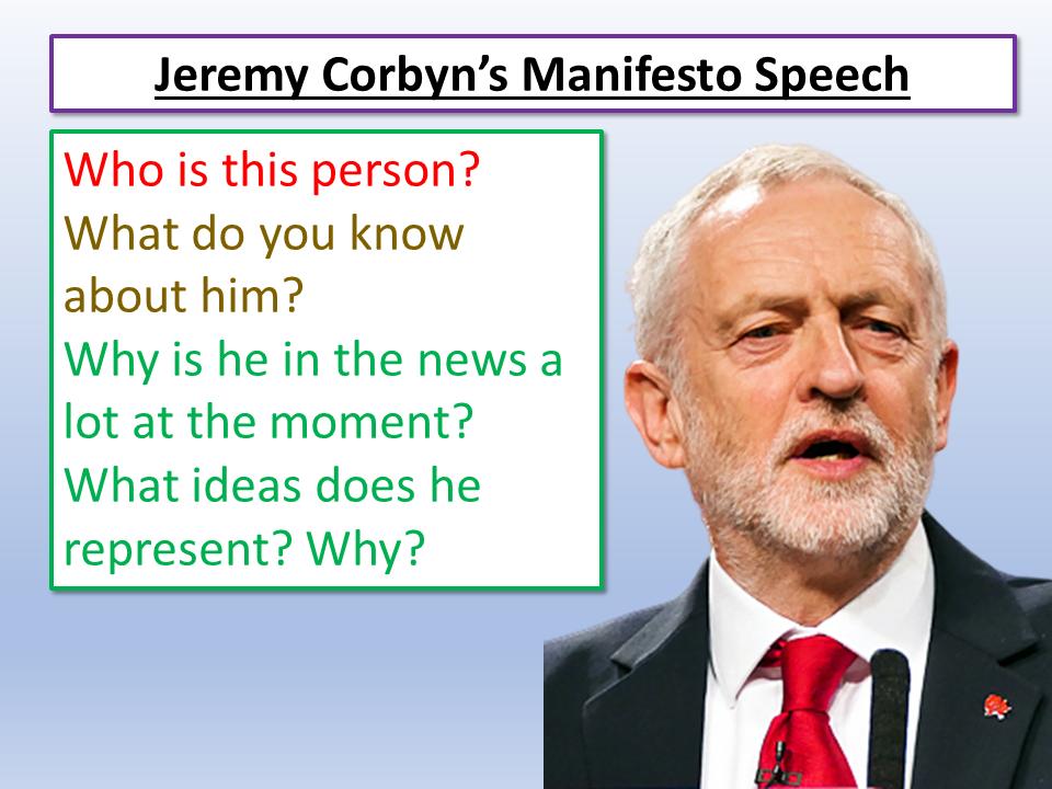 General Election 2019 Jeremy Corbyn Speech