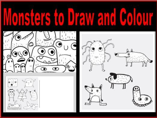 Monsters to Draw and Colour
